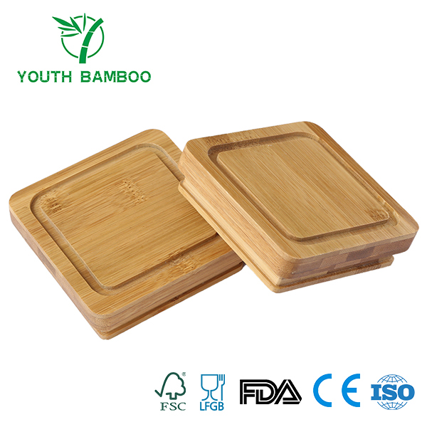 Square Bamboo Cup Lid