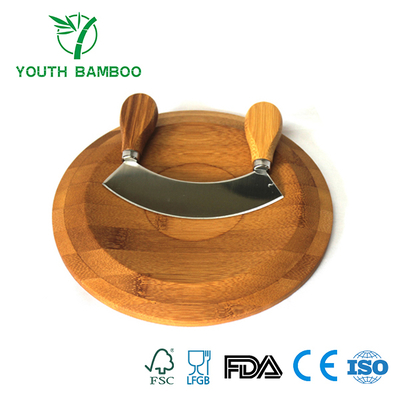 Bamboo Cheese Board With Cheese Knife