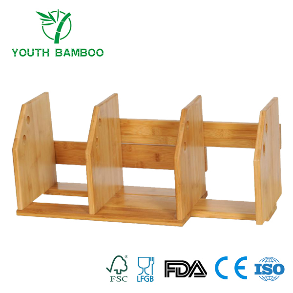 Bamboo Expandable Bookshelf