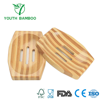 Bamboo Soap Holder Set 2 Pieces